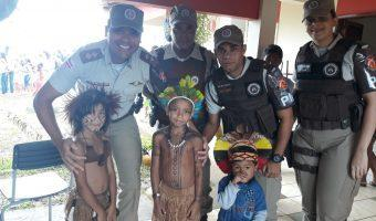 Pau Brasil: Polícia Militar comemora dia do índio visitando Aldeia indígena Pataxó