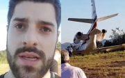 Avião com DJ Alok perde controle em decolagem e sai da pista em MG