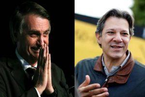 montagem bolsonaro haddad 300x200 - Bolsonaro sobe para 33% e Haddad para 16% em nova pesquisa - o tempo jornalismo