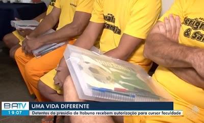Quatro detentos do presídio de Itabuna recebem autorização judicial para cursar faculdade