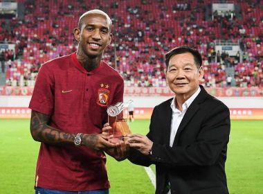 Talisca é eleito o melhor jogador do mês da China: 'Fruto de muito trabalho e dedicação'