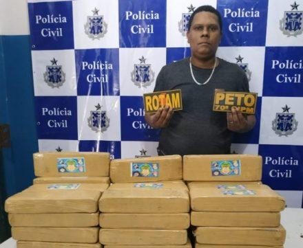 Homem é preso transportando quase 50 quilos de maconha em Ilhéus