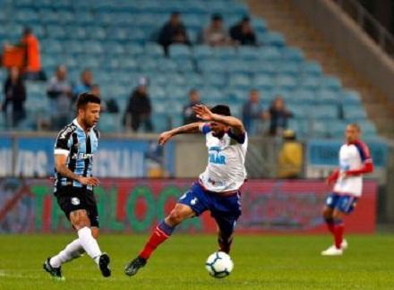 Bahia arranca empate com o Grêmio no 1º jogo das quartas da Copa do Brasil