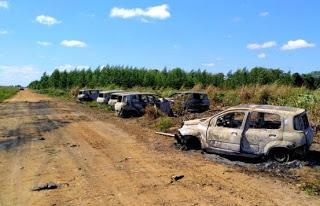 Eunápolis: Presos nove acusados de ataque a seguranças da Veracel
