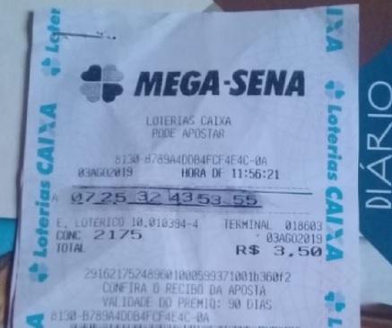 Mulher faz falsificação 'grotesca' em bilhete e tenta retirar prêmio da Mega-Sena